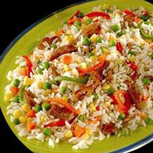 Arroz De Verduras Con Queso Parmesano