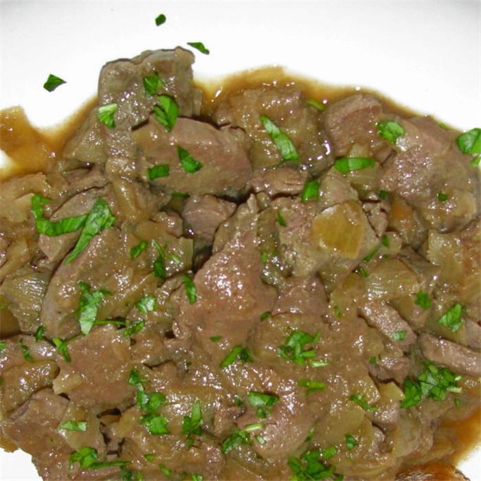 Carne De Ternera Encebollada