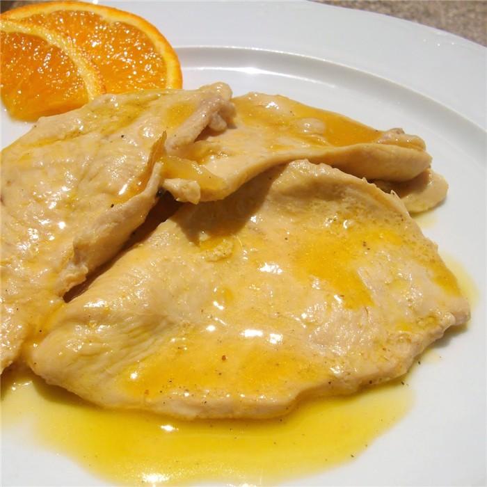 Pechuga De Pollo Al Jerez Con Naranja