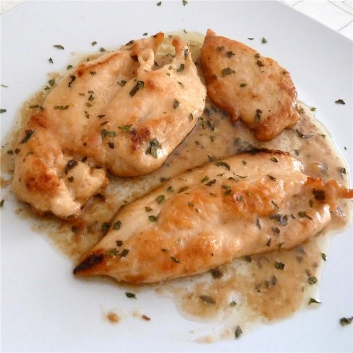 receta de pollo con vino blanco